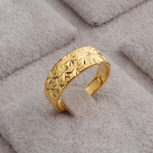 JEEXI Factory Price Promotion fashion  Gold Plated Rings For Wedding Engagement Jewelry Accessory Bridal Bands Finger Ring