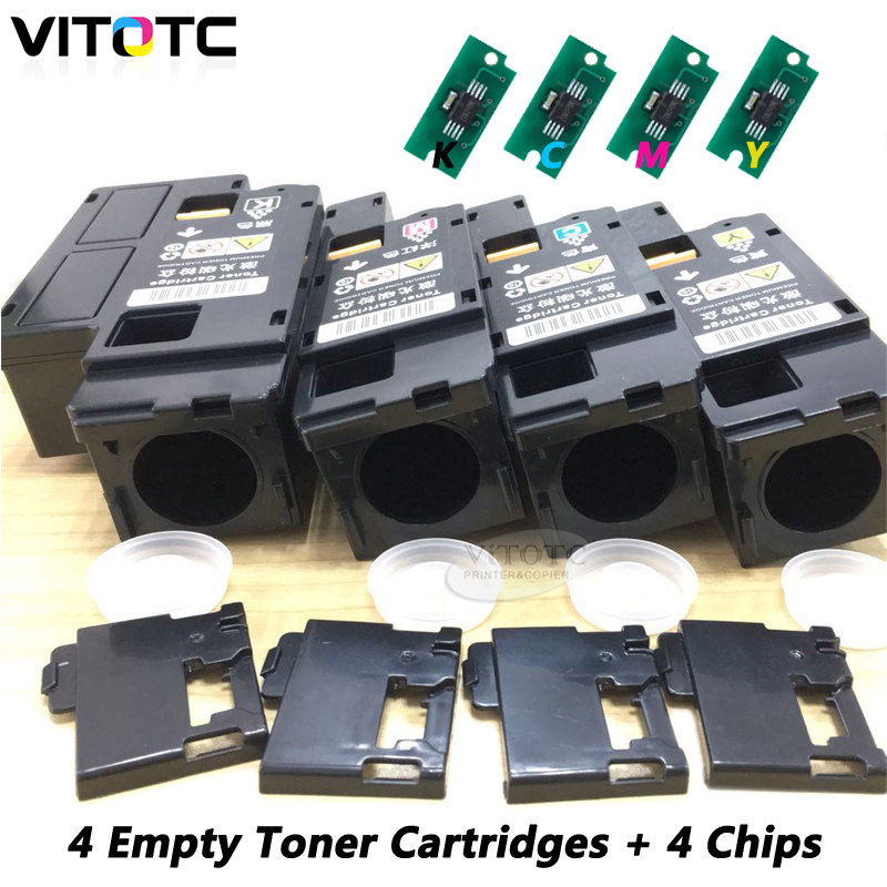 Empty Toner Cartridge Compatible For Xerox Phaser 6020 6022 Workcentre 6025 6027 Color Laser Printer Refillable With 4PCS Chips