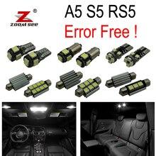 16 шт. X Canbus светодиодный фонарь для номерного знака+ интерьерный Купол Карта светильник комплект посылка для Audi A5 S5 RS5 B8(2008