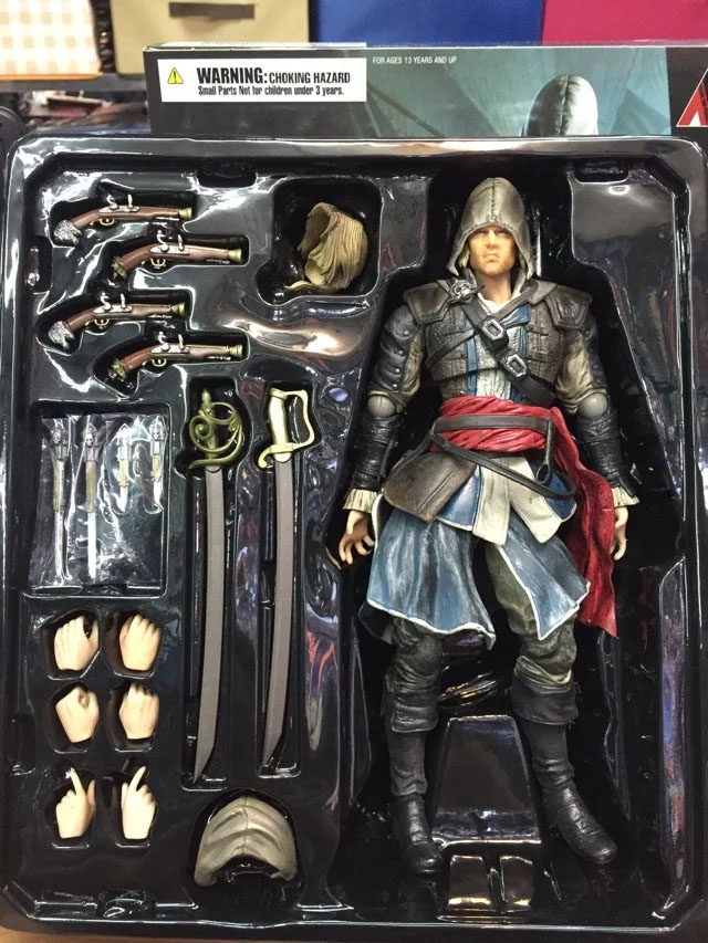 27cm edward james kenway assassins creed 4 black flag animation 27cm edward james kenway assassins creed 4 black flag animation game action figure model pvc toy doll decoration in action toy figures from toys hobbies voltagebd Image collections