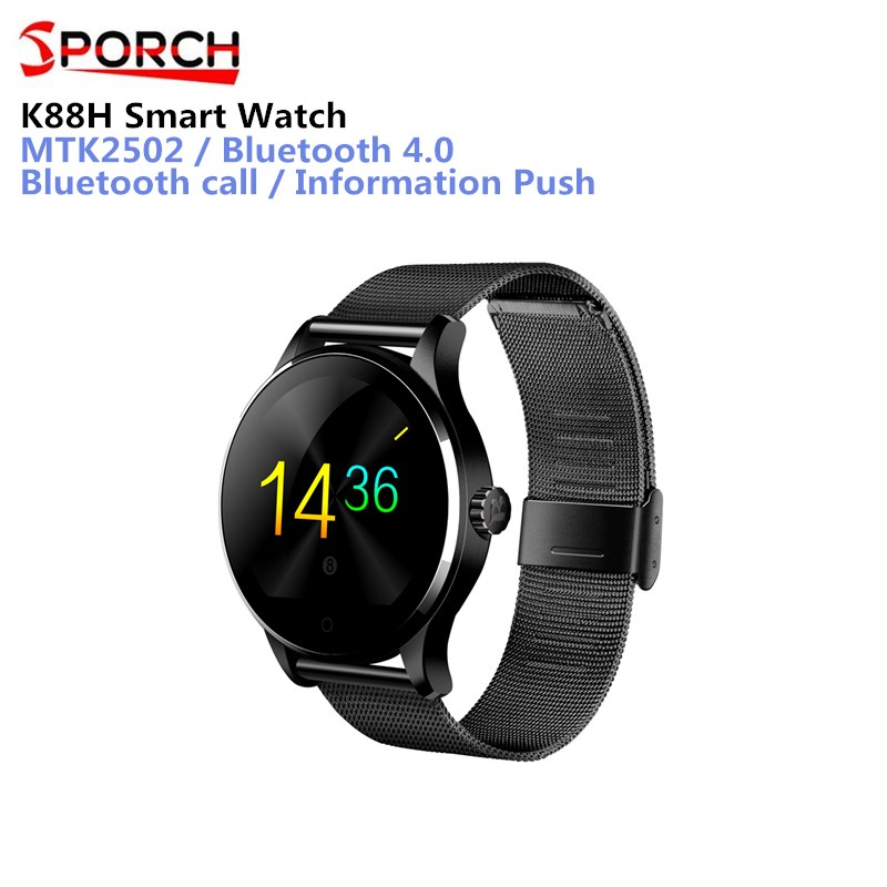 Original K88H Smart Watch MTK2502 Bluetooth Smartwatch Heart Rate Monitor Wearable Devices Waterproof Wristwatch For IOS Android k88h mtk2502 bluetooth smart watch with heart rate monitor for android ios phone