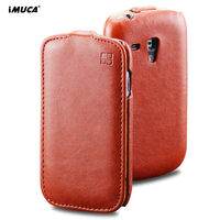 Luxury Concise Series Vertical Flip Leather Case For Samsung Galaxy S3 Mini I8190 Mobile Phone Cases