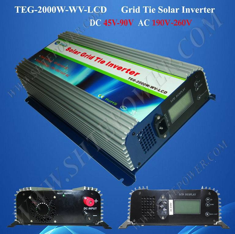 DC 45-90v to AC 220v 230v 240v grid tie 2000w micro control home solar power inverter micro grid tie inverter 500w with ip67 waterproof function dc 25 55v input to ac 220v 230v 240v output