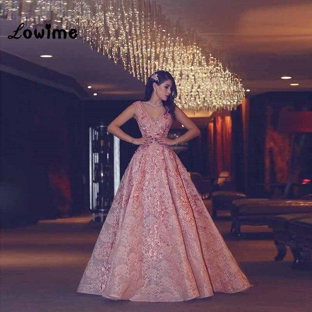 Lange Elegante Muslimische Spitze Formales Abend Kleid Mit Blumen