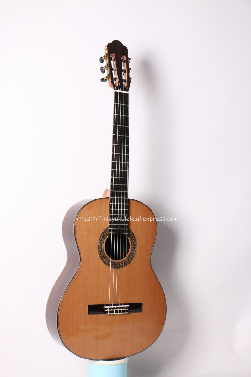Finlay 39 colos kézzel készített spanyol gitár, SOLID Cedar Top / - Hangszerek