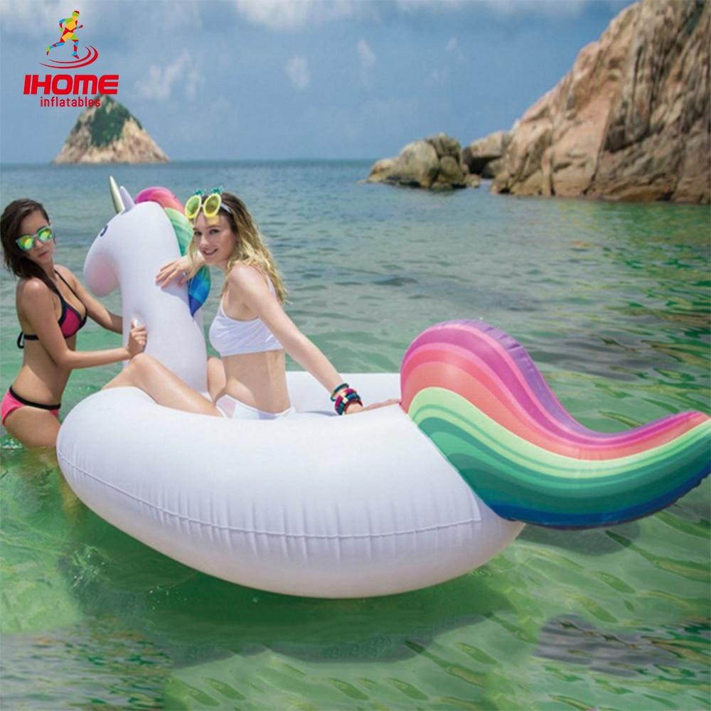 Inflatable Giant Float Rainbow Unicorn inflatable Pegasus flamingo float Black Swan Golden Swan Float  Air Mattress