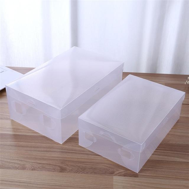 Transparent Clear Plastic Shoe Box Storage Shoe Boxes Foldable Shoes