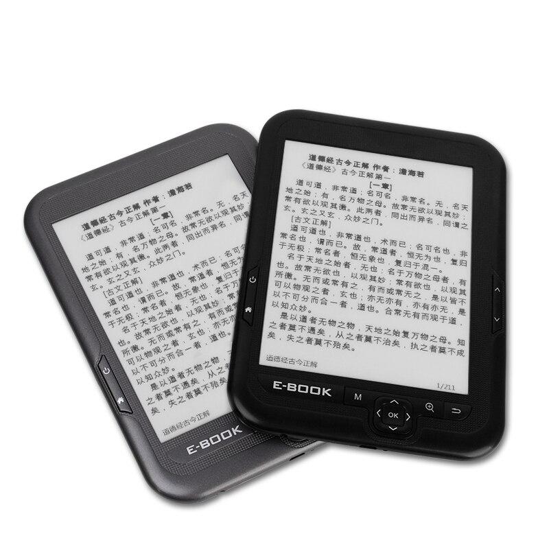 Lecteur Mp3 6 pouces écran d'encre électronique lecteur numérique ebook intégré 8 GB/16G rom et Support carte SD (Max 64 GB) étui ebook gratuit - 6