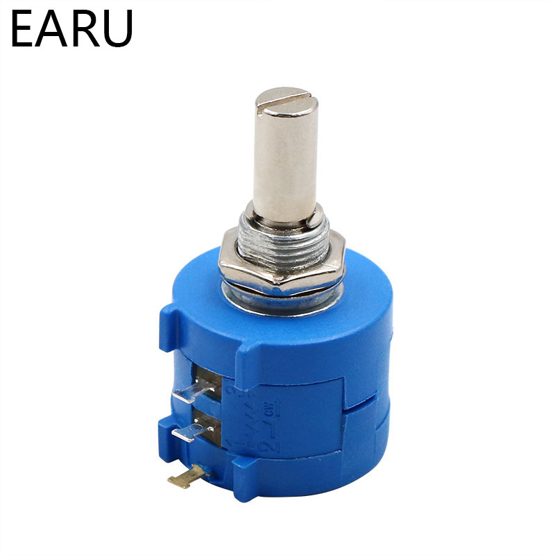 <font><b>3590S</b></font>-<font><b>2</b></font>-<font><b>103L</b></font> <font><b>3590S</b></font> 10K ohm Precision Multiturn Potentiometer 10 Ring Adjustable Resistor image