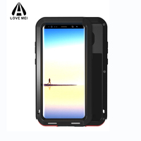 For Samsung Galaxy NOTE 8 Case Armor Metal Cover Aluminium Silicone Shockproof Phone Protective Case For
