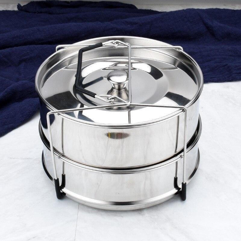 Autocuiseur à vapeur empilable en acier inoxydable | paquet d'accessoires pour casseroles instantanées à vapeur pliable à ressort antiadhésif