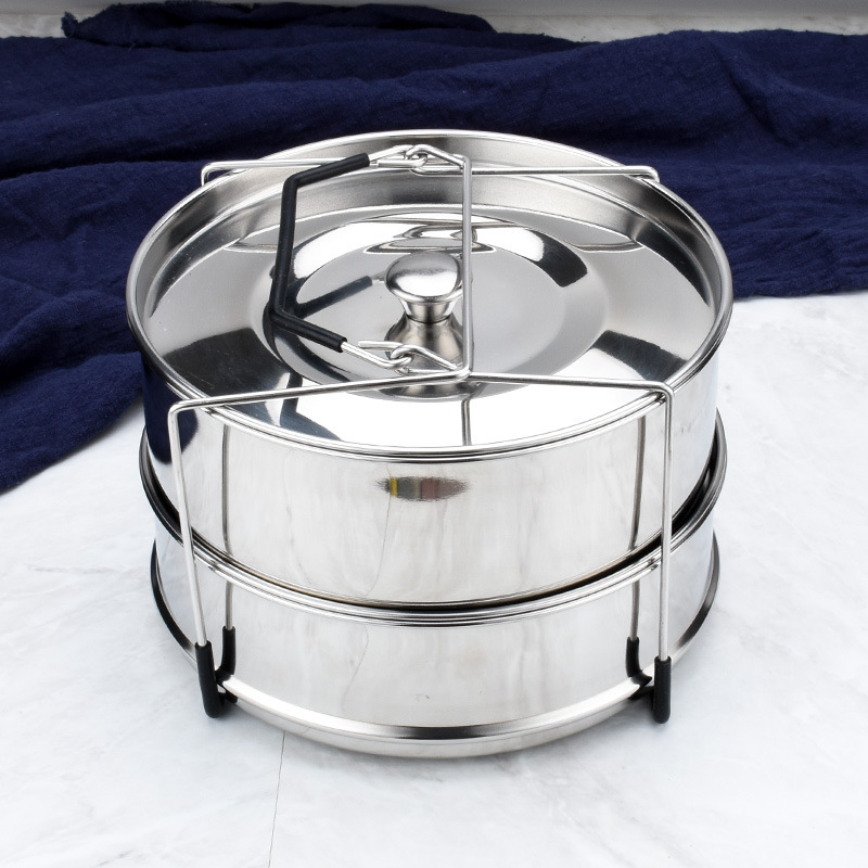 Stackable Stainless Steel Pressure Cooker Steamer   Non Stick Spring Form Pan  Foldable Steamer  Instant Pot Accessories Bundle