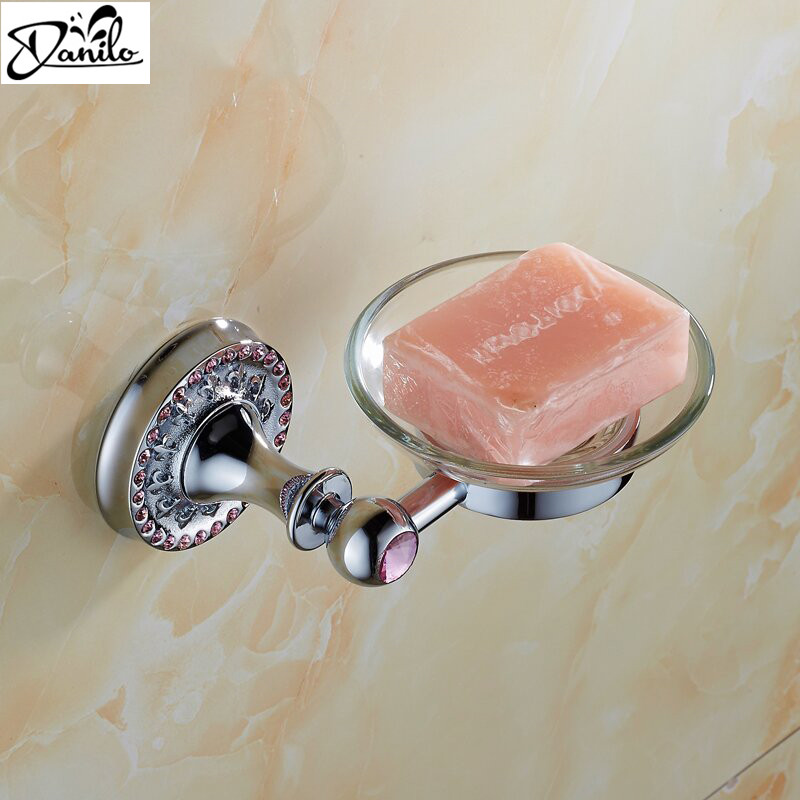 Free Shipping Crystal   Brass   Glass Bathroom Accessories Soap Dishes   Soap  Holder Soap. Popular Glass Soap Holders Buy Cheap Glass Soap Holders lots from