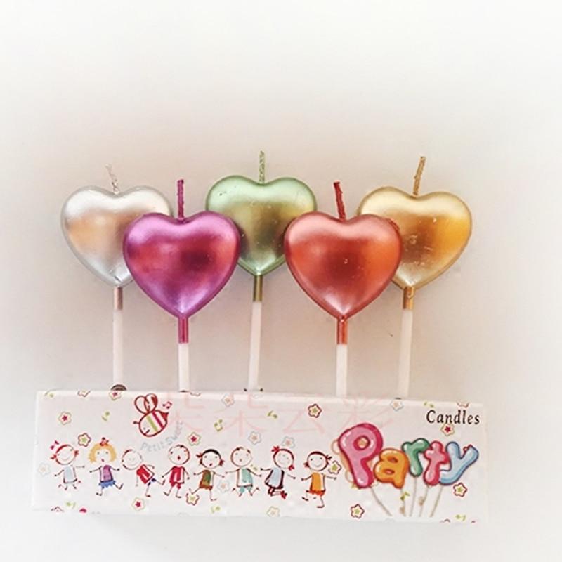 Creative small love birthday candle cute valentine cake decoration Cartoon Candle Kids Birthday Party Cake Decor