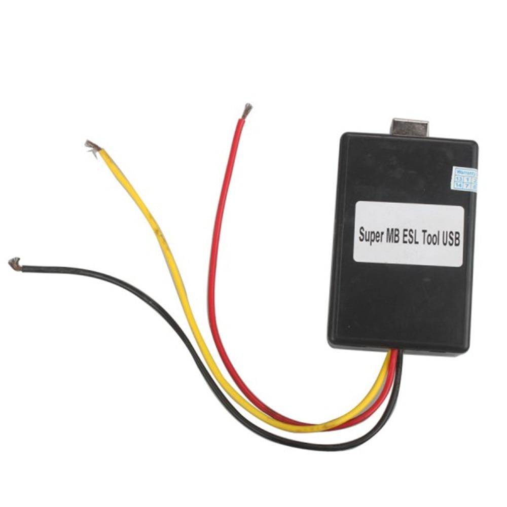 New Super MB ESL USB Tool for W202 W208 W210 W203 W209 W219 W211 free shipping airbag reset tool for benz sbc tool w211 r230 abs sbc tool mb sbc system