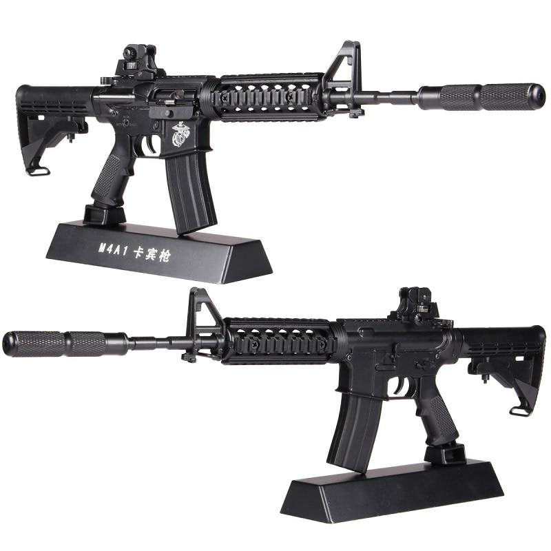 1:3.5 Assemble Metal Toy Gun Model Can Not Shoot M4A1 DIY Mini Gun Model For Collection Metal Alloy Gun Toys Boy Gift