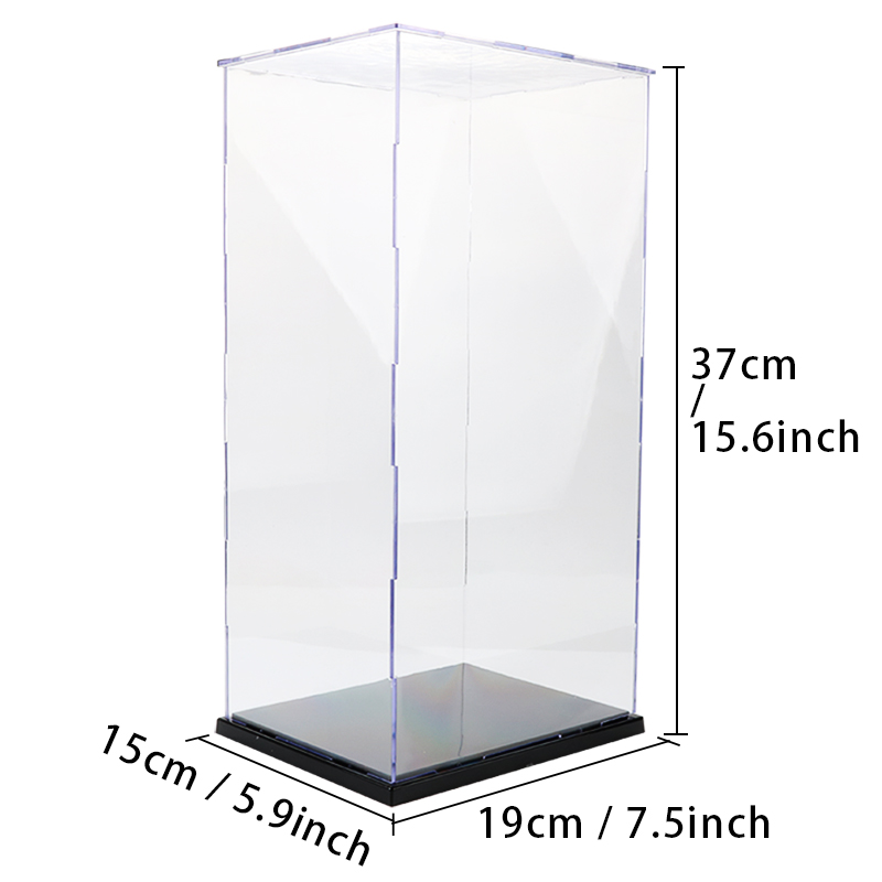 acrylic display case for models toy removable assembling showing box collectibles countertop. Black Bedroom Furniture Sets. Home Design Ideas