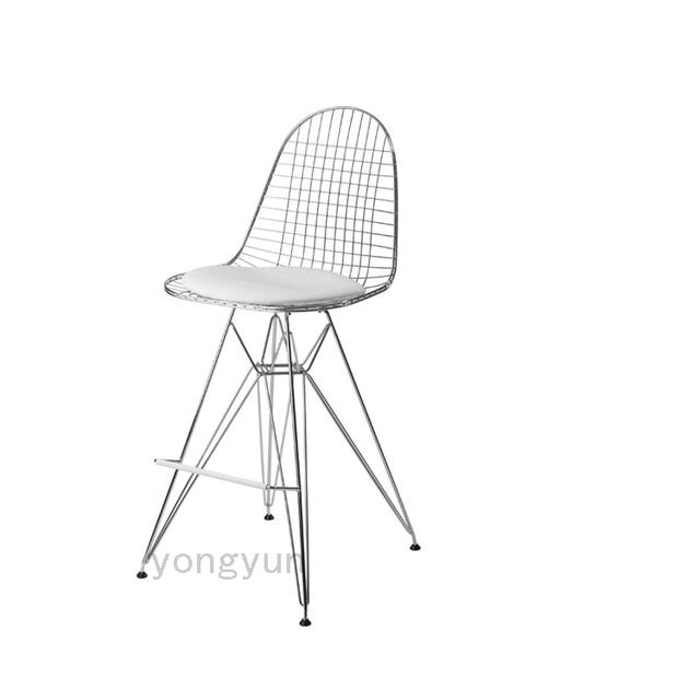 Minimaliste Design Moderne Metal Acier Fil Creatif Salle A Manger Chaises Bar Chaise Tabouret Salon