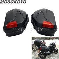 V 35 боковой Чехол 2 шт. мотоцикл 20L чемодан Паньер багажника брюки карго W/кронштейн стойки для Honda CB NC Suzuki Kawasaki Yamaha BMW