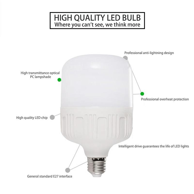 US $1 56 25% OFF|LED Bulb Lamps General Purpose E27 220V Light Bulb Smart  IC Real Power 5W 10W 15W 20W 30W High Brightness Lampada LED Bombilla-in  LED