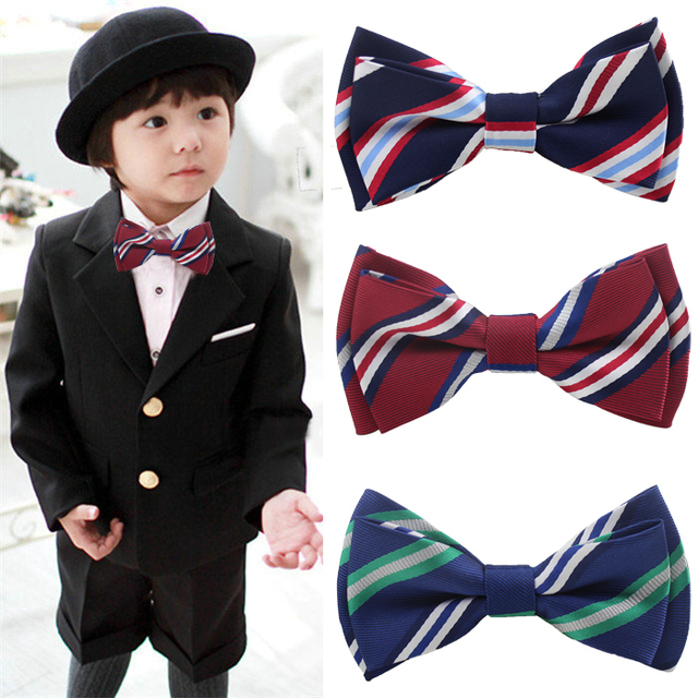 1aae5bd0e Retail Hot sale boys girls striped bow tie fashion kids bowtie butterfly  tie children accessories