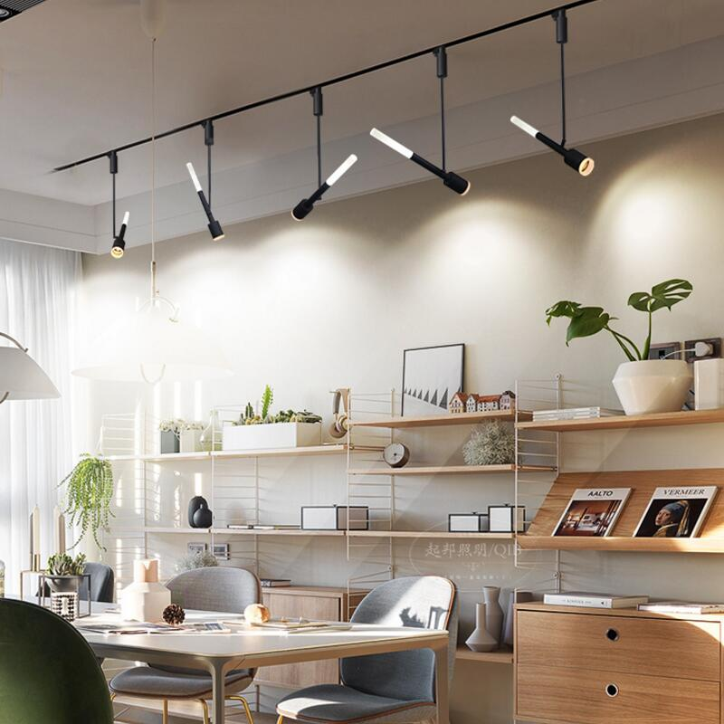 Fedex Free Shipping 6pc/lot 10W LED COB track light, store shopping mall track lamp, White black optional Spot light