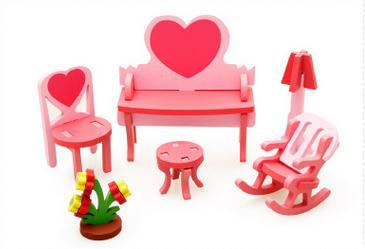 Free Delivery Factory Price Living Room Dressing Table 3D Assembling Furniture Toys For Children