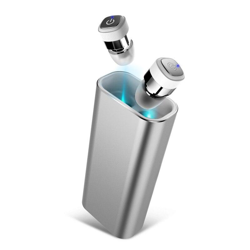 TWS K6 Mini Auricolare Bluetooth Senza Fili Auricolari Stereo 2400 mAh Banca di Potere per il telefono di sport impermeabile IPX7 con microfono