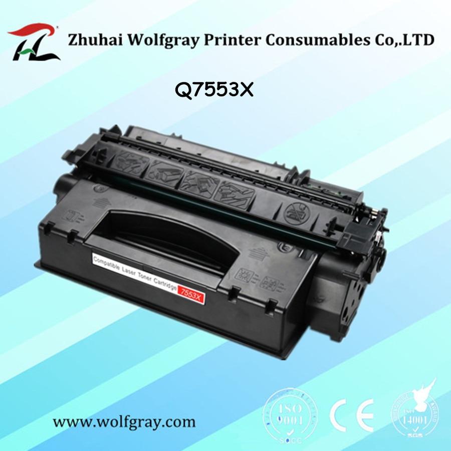 Compatible pour HP Q7553X 7553X cartouche de toner pour HP LaserJet P2014/P2015/P2015D/P2015N/M2727