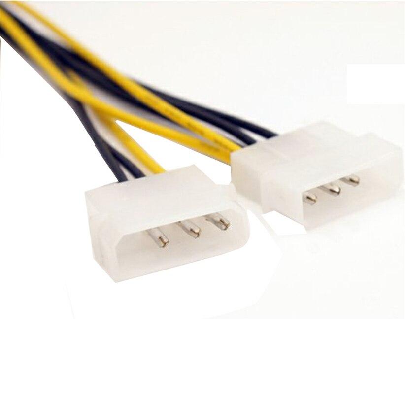 Двойной molex LP4 4 pin 8 pin pci-e express конвертер адаптер питания кабель провод futural цифровой Прямая доставка JUN30