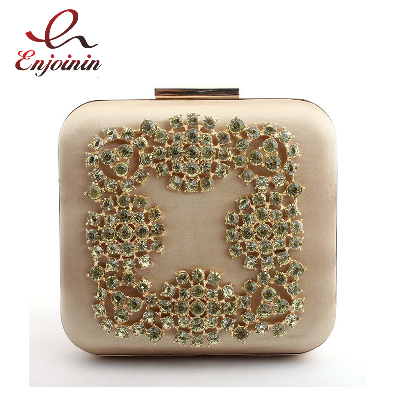 New Luxury Diamond-Studded Evening Bags Vintage Silk Shoulder Bags for Woman Chain Banquet Bag Clutch Lady Box Party Bag Purse 2018 new vintage embroidery flowers evening banquet women s small bag shoulder bag lady bag