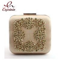 New Luxury Kim Cương Tối Đính Túi Lụa Cổ Điển Vai cho Người Phụ Nữ Chuỗi Tiệc Túi Clutch Lady Box Đảng Bag Purse