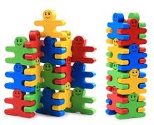 Купить с кэшбэком New Wooden Baby Toys  Balance Villain Blocks Baby Educational Toys