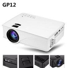 GP12 GP-12 Portable Mini LED Projecteur 2000 Lumens Home Cinéma Théâtre Full HD 3D 1080 P Vidéo Home Cinéma Projecteur PK GP9 GP-9