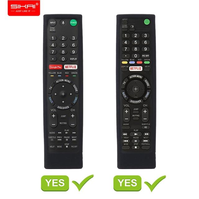 SIKAI מקרה סיליקון מקרה עבור SONY קול שלט רחוק RMF TX200 עבור Sony OLED חכם טלוויזיה מרחוק מקרה מגן מקרה עבור מרחוק