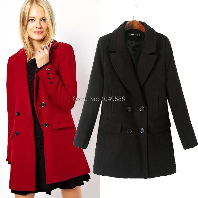 Long Pea Coat Womens Photo Album - Reikian