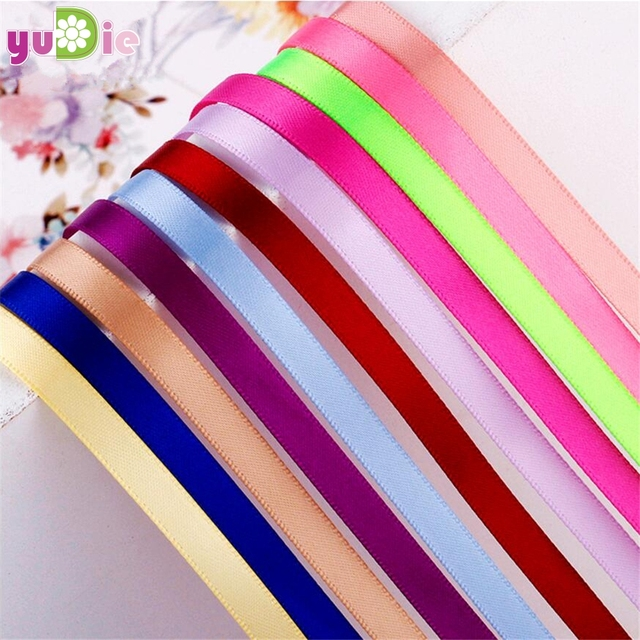 Satin Ribbon 6mm 22m/25yards Wedding Silk Ribbon Party Decoration Satin DIY Birthday Supplies Apparel Sewing Fabric
