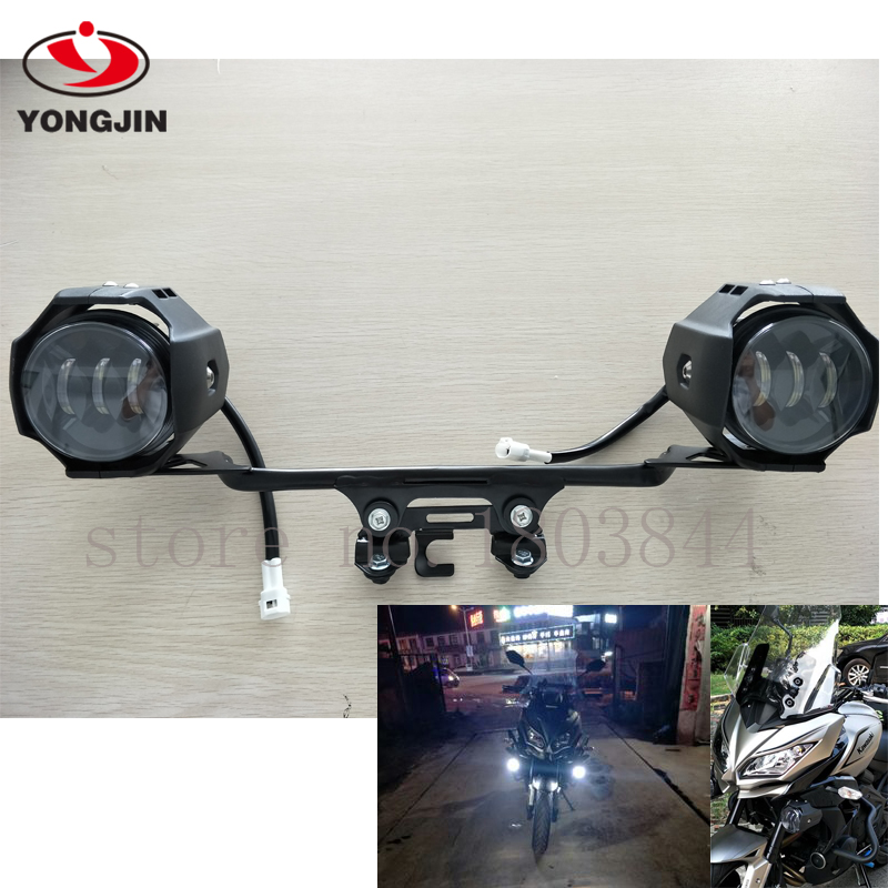 LED Auxiliary Fog Lights Assembly For Kawasaki Versys 650 Led Light