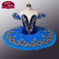 Бархат синяя птица Балетные костюмы пачка Черный лебедь Балетные костюмы пачка Профессиональный Балетные костюмы пачка для конкуренции ил