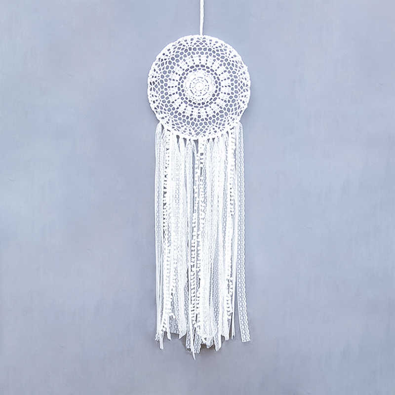 Dream Catcher Bohemian Handmade Diy Round White Tapestry Wedding Photography B&B Decorative Lace Weave room decor
