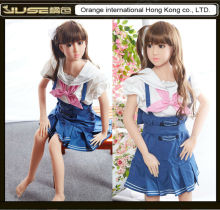 140cm flat chest breast Japanese Lolita anime silicone sex doll,small boob cute love doll,lifelike oral sex doll for adult,ST227