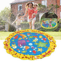 100cm Children Inflatable mattress Environmentally PVC Outdoor Water Toy Water spray cushion Lawn, Swimming Pool, Beach Cushion