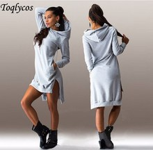 European and American style long-sleeved blouse cap long dress  107