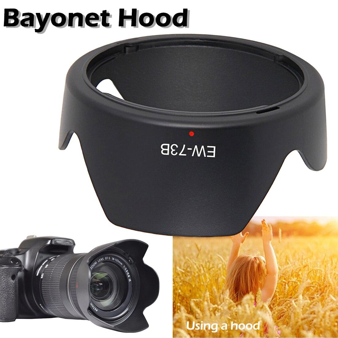 Аксессуары для камеры EW 73B Защитная бленда для объектива Canon EF S 17 85 мм f/4 5.6 IS USM 58 мм Резьбовое крепление в форме цветка для бленды Бленды      АлиЭкспресс