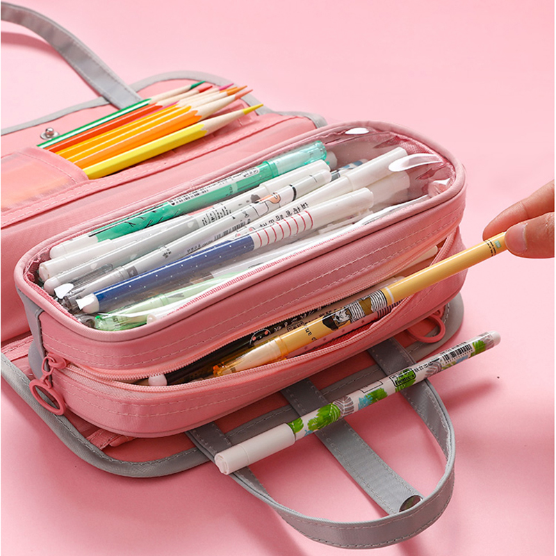 INS HOT Multifunctional Pencil bag Waterproof oxford Detachable Pen bag For School pencil Case Cosmetic case etui wash bag in Pencil Cases from Office School Supplies