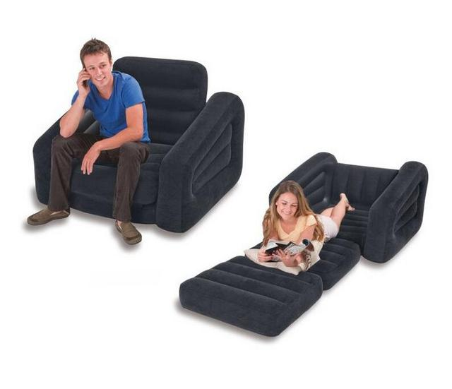 Original 2 In 1 Multifunctional Folded Up Luxury Single Folding Inflatable Sofa Lazy Bed Loungers