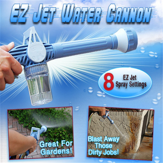 VILEAD ABS EZ Jet Adjustable Water Cannon Eight in One Multi-functional Water Cannon Gun Spray Garden Watering Car Washing Tools