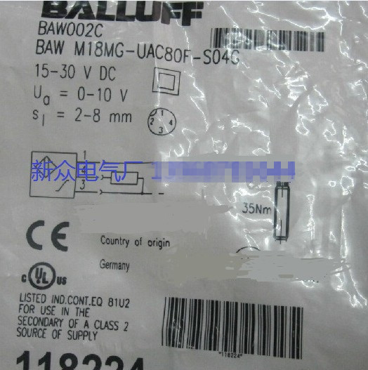 Original new 100% super low-priced import proximity switch BAW M18ME-UAC50B-BP03 sensor BAW M18MG-UAC80F-S04G new original ifs204 door proximity switch high quality
