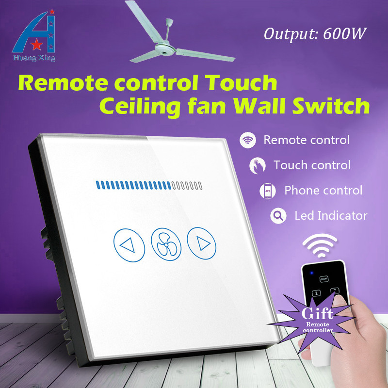 Luxury UK Standard Wireless remote control for Ceiling fan Crystal Glass Panel, 600W fan Speed Regulation wall touch switch tony levene investing for dummies uk