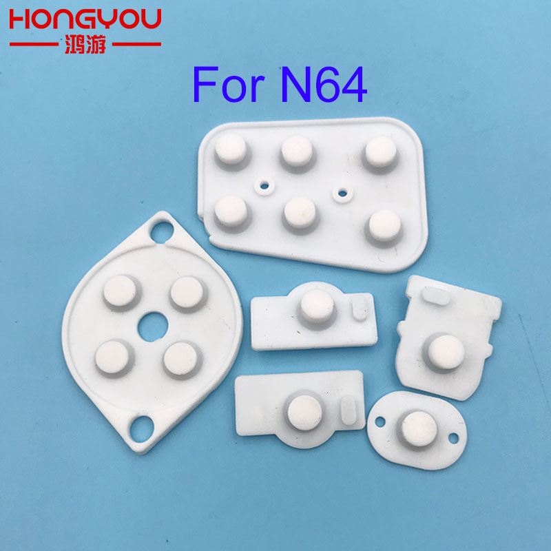 100Sets Repair Parts for Nintendo N64 Controller Joy Pad Conductive Button Silicon Rubber Pad